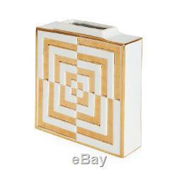 Jonathan Adler Square Vase Futura OP Art
