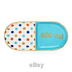 Jonathan Adler Trinket Tray Full Dose Pill Blue & Multi