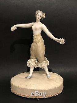 KISTER Antique Porcelain Half Doll Art Deco Lady