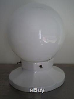 LAMPE LUMINAIRE ART DECO FLEUR PORCELAINE OPALINE DECO INDUSTRIEL VINTAGE XX°s