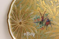 Limoges Large Plate, French Objet D'art Gold Art Deco