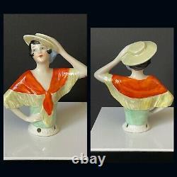 Lot Of 5 Antique/Vintage German Art Deco Pincushion Half Dolls