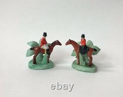 Lot Place Card Note Holder Fox Hunt Mini Lady Man Porcelain Figurine German VTG