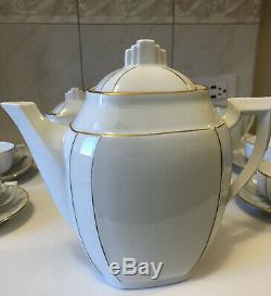 Lulin Paris Porcelain Art Deco Coffee Set
