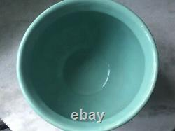 MCCoy Quilted Jardiniere Planter Turquoise Aqua Green 10 1/2