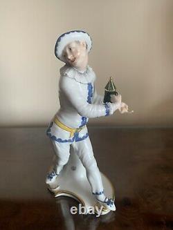 Nymphenburg Commedia Dell' Arte Bustelli Porcelain Figurine Pierrot