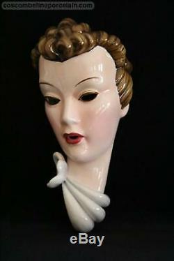 OFFER Superb Art Deco Wallmask Goldscheider Ceramics Wien Austria Facemask
