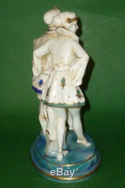 Old Schwarza Figure Porcelain Figurine Art Nouveau Deco Female Dancer Top