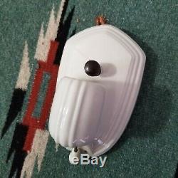 Original Art Deco PAULDING White Porcelain Ceramic Sconces NOS 1760 $74.99 Each