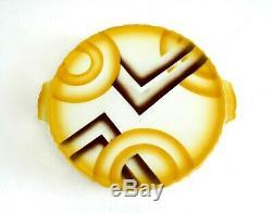 Original German Bauhaus Suprematism Ceramic Cubist Cake Plate Art Deco 1925