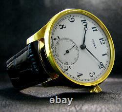 PHENIX Antique Men's Large Art Deco Wristwatch Porcelain Dial