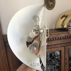 Pair VTG 1960s ART-DECO MCM MINIMALIST WALL SCONCES FELDMAN LA LIGHTING SPHERE