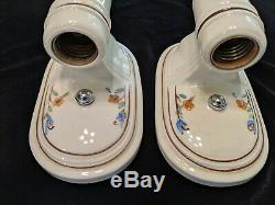 Pair of Vintage Porcelier Porcelain Sconces, New Wiring & Mounting Hardware (#2)
