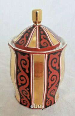 Pavel Janak Art Deco Porcelain Rare Cubist Covered Vessel Otto Wagner Schüler