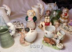 Pierrot Clown Bud Vase Rare Art Deco Germany Porcelain Figurine c1920