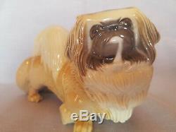 Porcelain Germany Nymphenburg Statue of a Beautiful Pekingese Dog 1930s