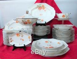 Porcelaine de Limoges beau service de table période Art Deco
