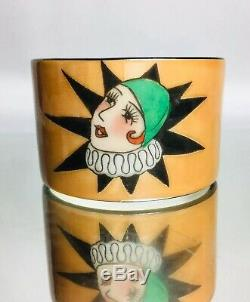 RARE Art Deco Harlequinn Lady Pierrot Clown Noritake Napkin Luster Porcelain