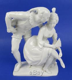 RARE Arthur Storch Volkstedt Porcelain Columbine & Harlequin Figurine German