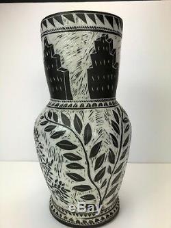 RARE Matthew Metz Large POTTERY porcelain Hand Made Art Vase Signed Original