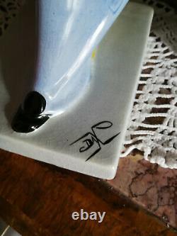 RARE et ART DECO PIERROT MOULIN DES LOUPS ORCHIES porcelaine de DAX TTB 37 CM