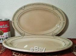 ROOKWOOD 2 BUFFALO china restaurant oval art deco plate vtg western railroad