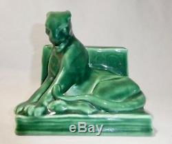 ROOKWOOD PANTHER BOOKEND / PAPER WEIGHT by William Purcell McDonald. #2564.1951