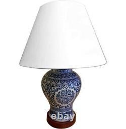 Ralph Lauren Home Floral Porcelain Ginger Jar Lamp Large Rare Hand painted MU29