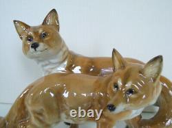 Rare 11 Art Deco Hutschenreuther-rosenthal Fox (vixen) Group Porcelain Figurine