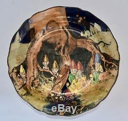 Rare 1928 Royal Doulton GNOMES Series Ware Bowl D4697 (19cm)