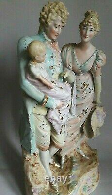 Rare! Antique Vintage porcelain Figurine old Germany marked Height 36.5 cm