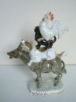 Rare Art Deco Hutschenreuther-rosenthal Porcelain Figurine Bremen Town Musicians