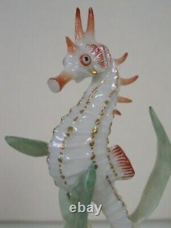 Rare Art Deco Hutschenreuther-rosenthal Porcelain Sea Horse Fish Figurine