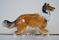Rare Art Deco Hutschenreuther-rosenthal Rough Collie Dog Porcelain Figurine