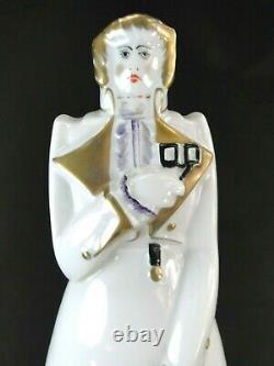 Rare Bouteille Porcelaine De Limoges Art Deco Esprit Robj Moderniste