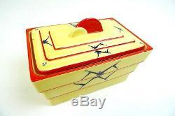 Rare Czech Art Deco Ceramic Avantgarde Cookie Jar Box By D. Urbach 1930