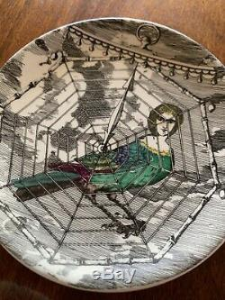 Rare Fornasetti Le Arpie Gentili Lady Bird Coasters Italy