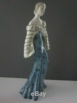 Rare Goldscheider Elegant Art Deco Woman Figurine in Fine Porcelain
