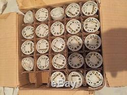 Rare Lot de 98 pièces interrupteur neuf ancien porcelaine & chrome art déco
