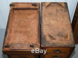 Rare Lovely Solid Walnut Victorian Desk Victorian Porcelain Castors Leather Top