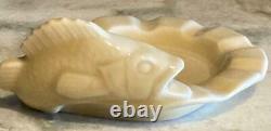 Rare Rookwood Pottery 1945 Mid-century Fish Cigar Ashtray #6500