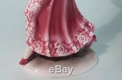 Rare Vintage Hertwig Katzhutte Art Deco Porcelain Lady Figure Holding Grapes