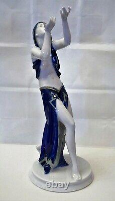 Rosenthal Porcelain Art Deco Prayer Dancer Figurine Gustav Oppel Germany Superb