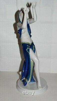 Rosenthal Porcelain Art Deco Prayer Dancer Figurine Gustav Oppel Semi-Nude Fab