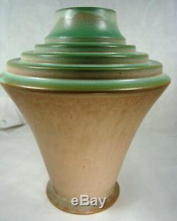 Roseville Art Pottery FUTURA 395-10 Stepped Urn LARGE Vase GORGEOUS Art-Deco