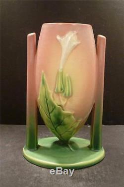 Roseville Thornapple Pink Art Deco Vase 816-8 MINT