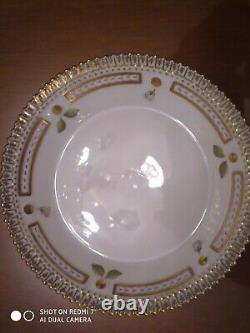 Royal Copenhagen Porcelain Flora Danica Cup and Saucer Patentilla retusa Mull