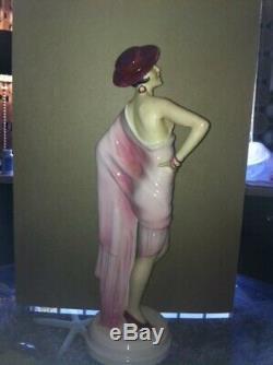 Royal Dux Art Deco Tango Dancer Figurine Large 15 -Vintage Early 20th Century