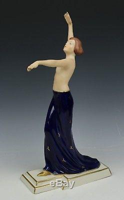 Royal Dux by Schaff art deco figurine 3251 Dancing Woman WorldWide