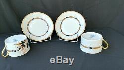 SERVICE à CAFE style ART DECO porcelaine LIMOGES RAYNAUD tête à tête COMPLET
